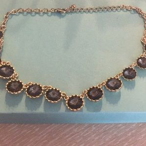 Nordstrom gray and gold statement necklace